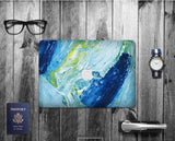 Macbook Decal Skin | Paint Collection - Blue Ink Paint - Case Kool