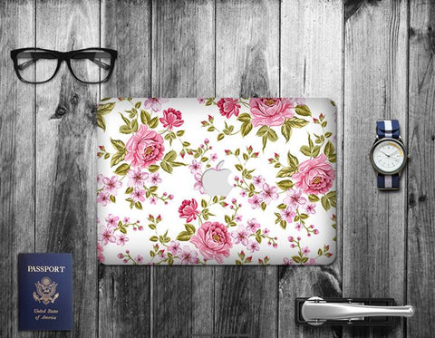 Macbook Decal Skin | Paint Collection - Flower - Case Kool