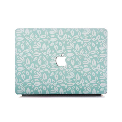 Macbook Case | Oil Painting Collection - Turquoise Leaf - Case Kool