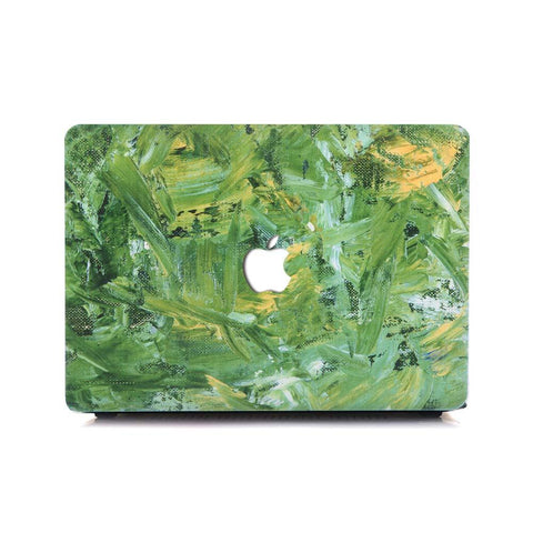 Macbook Case | Oil Painting Collection - Green Paint - Case Kool