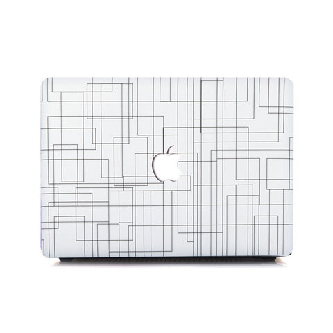 Macbook Case | Oil Painting Collection - White Lines - Case Kool