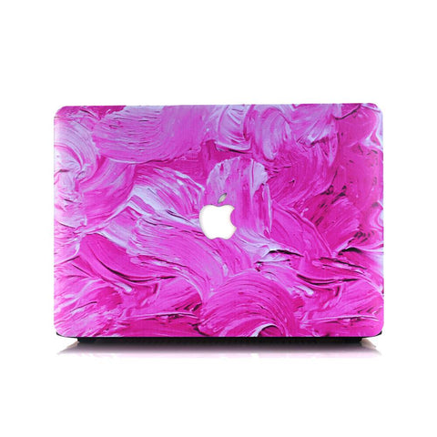 Macbook Case | Painting Collection - Rose Pink Paint - Case Kool