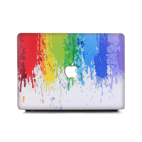 Macbook Case | Oil Painting Collection - Rainbow Splat - Case Kool