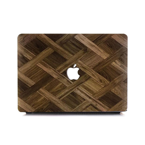 Macbook Case | Wood Collection - Cross Wood - Case Kool