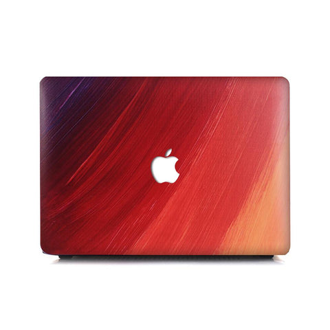 Macbook Case | Oil Painting Collection - Red Paint - Case Kool