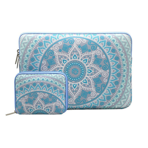 Macbook Sleeve - Blue Mandala - Case Kool