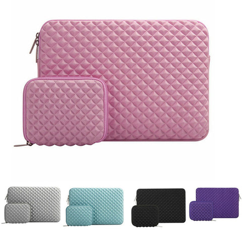 Macbook Sleeve-Diamond Foam Water Repellent Lycra