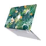 Macbook Case with US Keyboard Cover Package | Floral Collection - Hawaiian Tropical Palm Leaves - Case Kool
