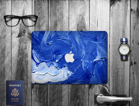Macbook Decal Skin | Paint Collection - Wave - Case Kool