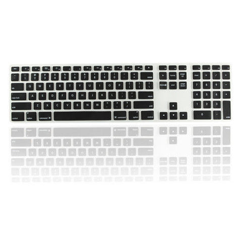 iMac Wired Keyboard Cover with Numeric Keypad MB110LL/B - Black (US keyboard) - Case Kool