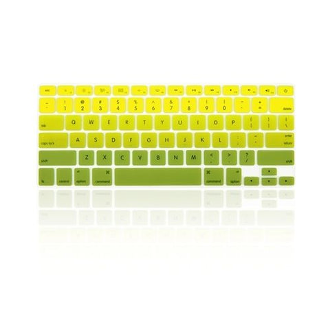 Macbook Ultra-Thin Keyboard Cover - Faded Ombre Yellow & Green (US/CA keyboard)