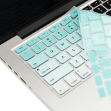 Macbook Ultra-Thin Keyboard Cover - Faded Ombre Tiffany Blue (US/CA keyboard) - Case Kool