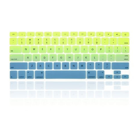 Macbook Ultra-Thin Keyboard Cover - Faded Ombre Green & Blue (US/CA keyboard) - Case Kool