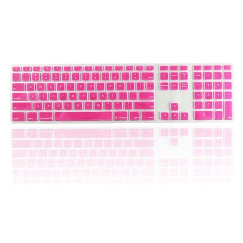 iMac Wired Keyboard Cover with Numeric Keypad MB110LL/B - Pink (US keyboard) - Case Kool