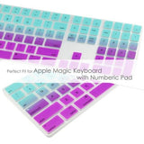 Magic Keyboard Cover with Numeric Keypad MQ052LL/A - Light Blue & Purple (US/CA keyboard) - Case Kool