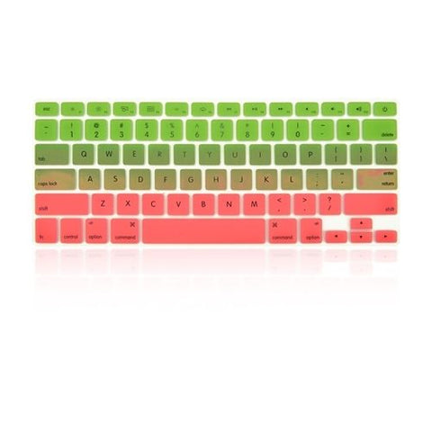 Macbook Ultra-Thin Keyboard Cover - Faded Ombre Green & Pink (US/CA keyboard) - Case Kool