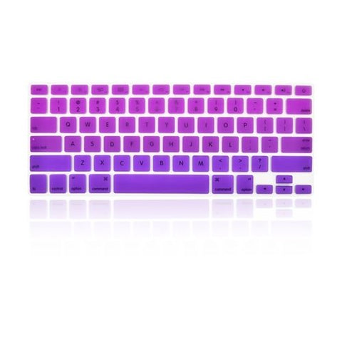 Macbook Ultra-Thin Keyboard Cover - Faded Ombre Purple & Deep Purple (US/CA keyboard) - Case Kool