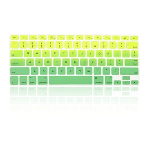 Macbook Ultra-Thin Keyboard Cover - Faded Ombre Light Green & Green (US/CA keyboard)