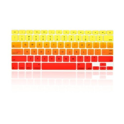 Macbook Ultra-Thin Keyboard Cover - Faded Ombre Yellow & Red (US/CA keyboard) - Case Kool