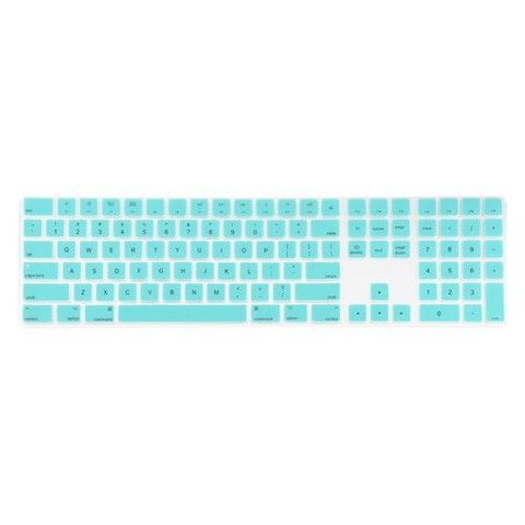 Magic Keyboard Cover with Numeric Keypad MQ052LL/A - Aqua Blue (US/CA keyboard) - Case Kool