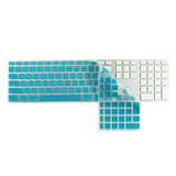 iMac Wired Keyboard Cover with Numeric Keypad MB110LL/B - Aqua Blue (US/CA keyboard) - Case Kool