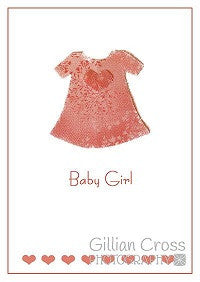 Baby Girl Birth Card - Rock Paper Bears
