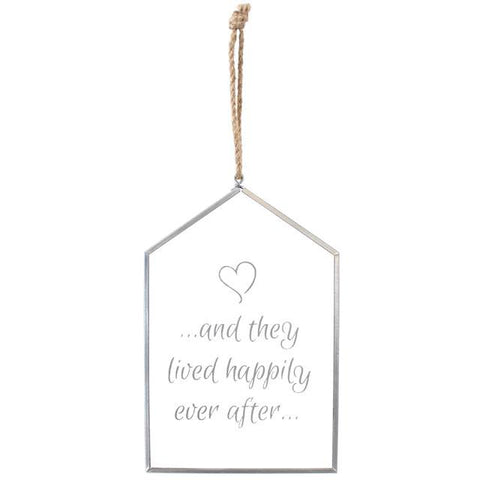 And They Lived Happily Ever After Glass Plaque