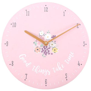 Good Things Take Time Clock