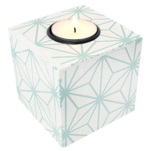 Geometric Tea Light Holder Green