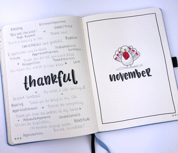 How to setup your Dingbats* Notebook for December using a Thanksgiving theme