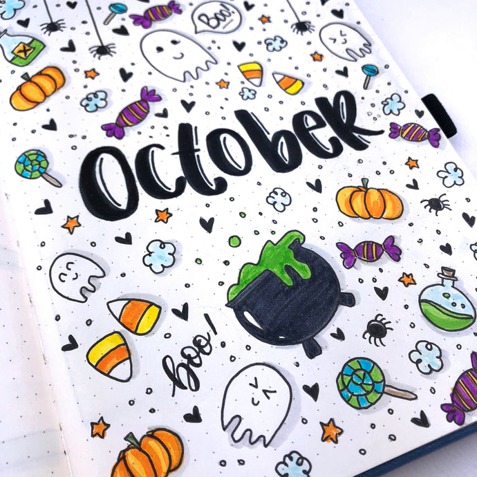 How to setup your Dingbats Notebook for October using a Halloween theme