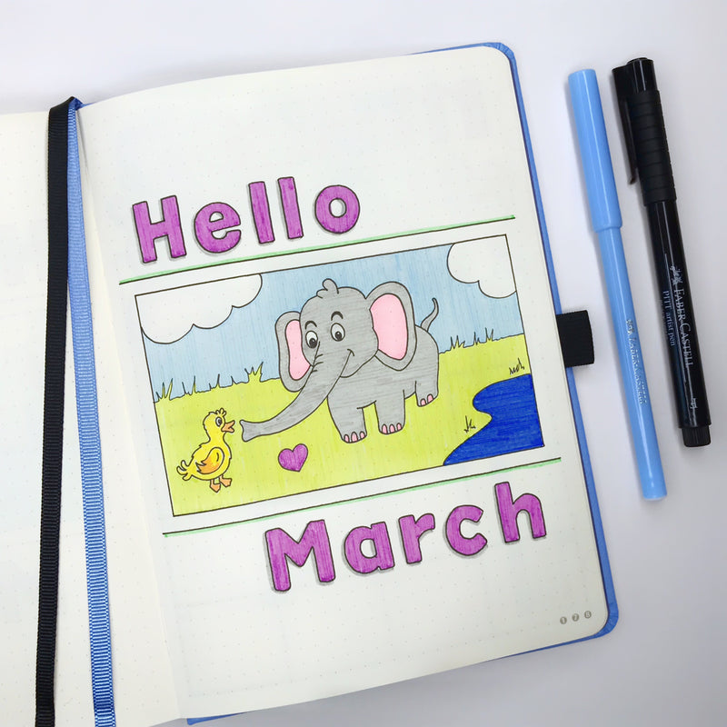 How to setup your March bullet journal for World Wildlife Day! 🐾