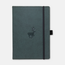 Dingbats* A5+ Wildlife Green Deer Notebook