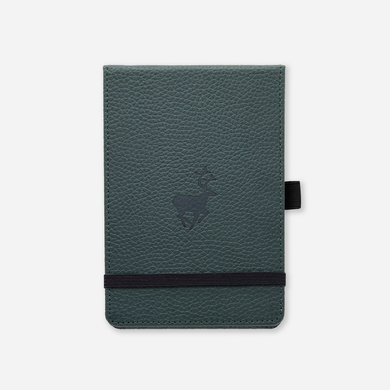 Dingbats* A6+ Wildlife Green Deer Reporter Notebook