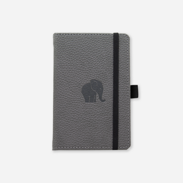 Dingbats* A6 Pocket Wildlife Grey Elephant Notebook