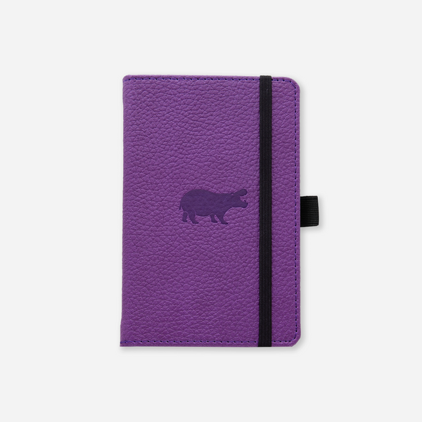 Dingbats* A6 Pocket Wildlife Purple Hippo Notebook