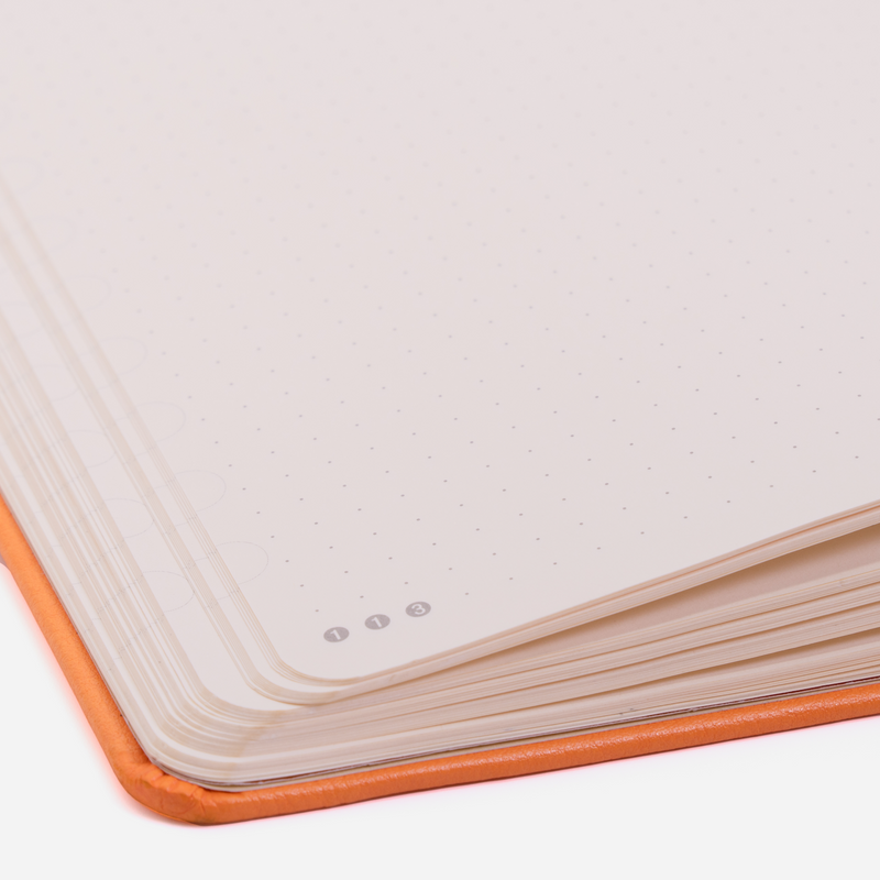 •Notebooks of beauty - hardcover bound with PU leather, radius corners, coloured endpapers, perforated 100gr/m² cream pages, inner pocket and elastic closure. Also includes a pen holder - perfect - Dingbats* Notebooks (journal, diary, bullet journal, office notebook, leather notebook)