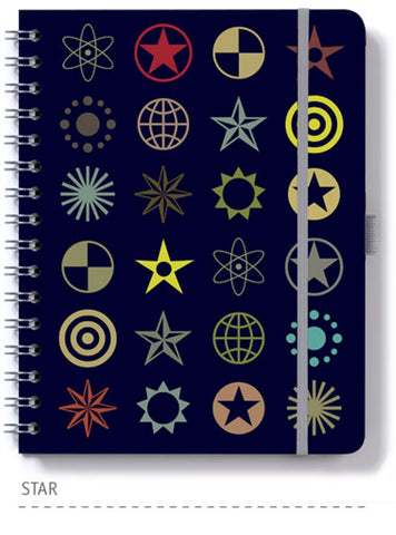Dingbats* Personal Lined Wirebound Notebook - Star