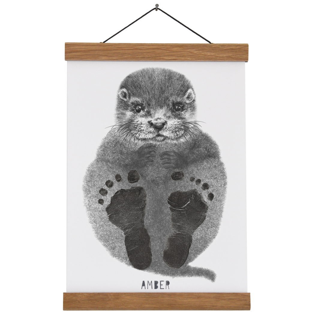 Personalised Baby Otter Footprint Kit