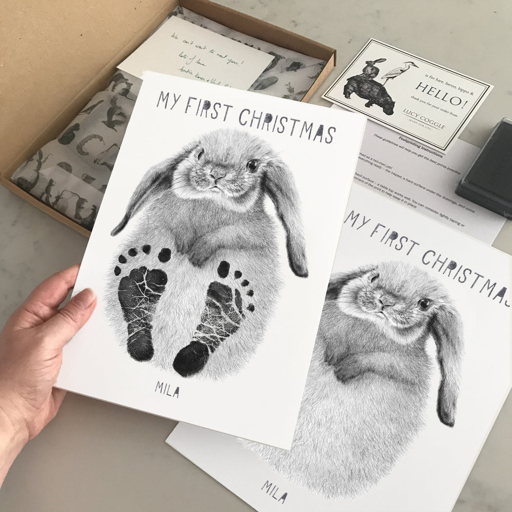 My First Christmas Personalised Baby Footprint Kit