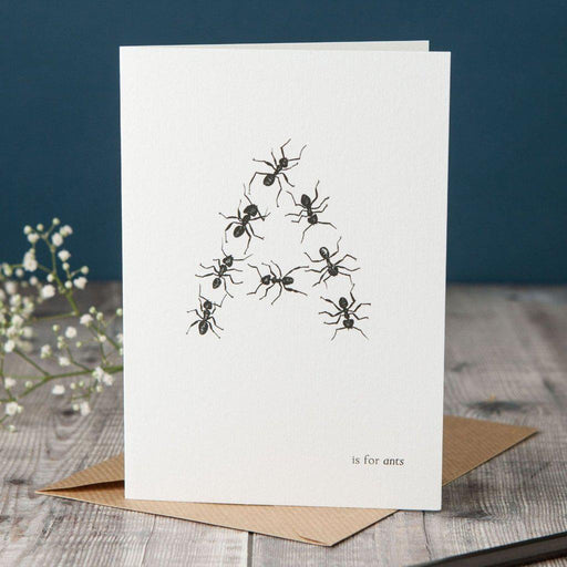 A is for Ants Card-Lucy Coggle