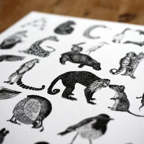 Animal Alphabet Print-Lucy Coggle