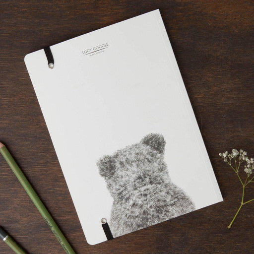 Bear Round Cornered Notebook-Lucy Coggle