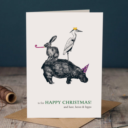 Christmas H is for Happy Christmas Card-Lucy Coggle