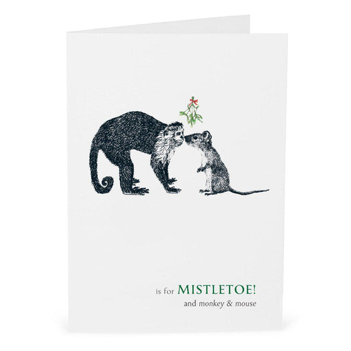 Christmas M is for Mistletoe Card-Lucy Coggle