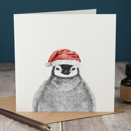 Christmas Peeping Penguin Card-Lucy Coggle