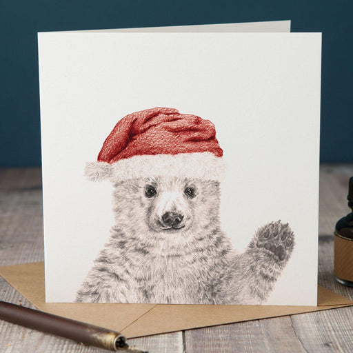 Christmas Peeping Polar Bear Card-Lucy Coggle