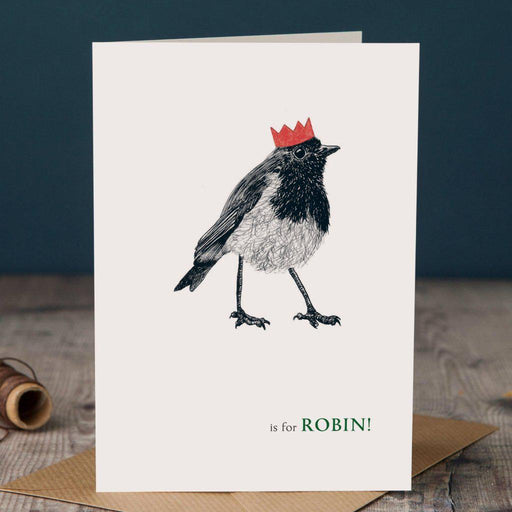 Christmas R is for Robin Card-Lucy Coggle