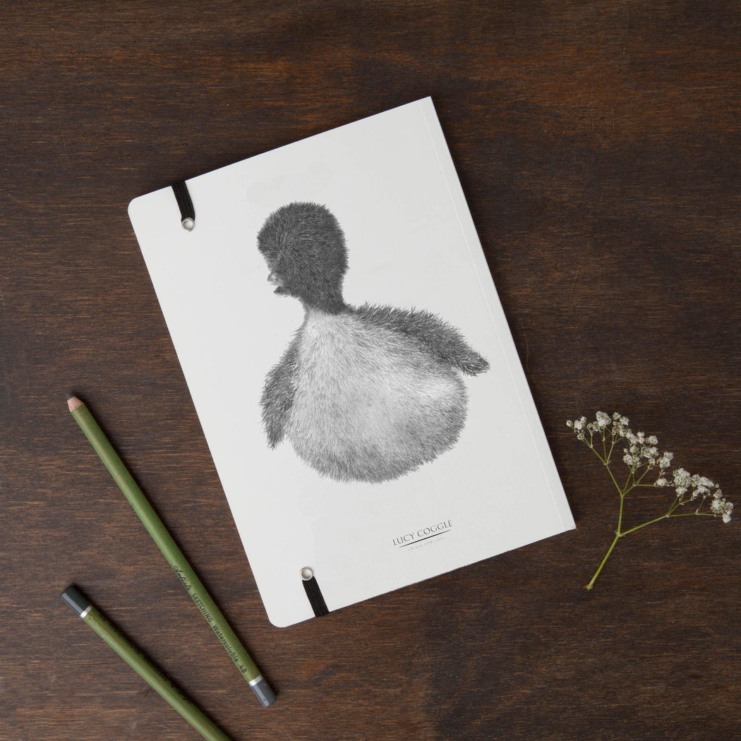 Duck Round Cornered Notebook-Lucy Coggle