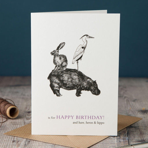H is for Happy Birthday Card-Lucy Coggle
